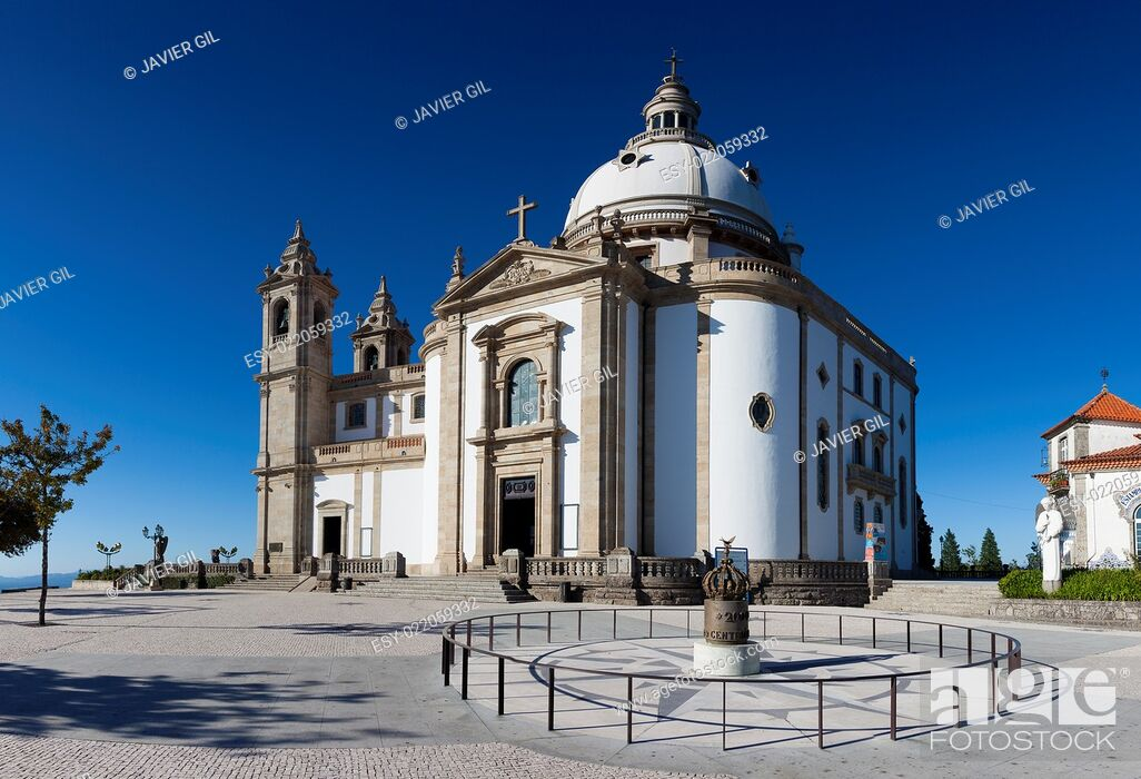 Stock Photo: Sanctuary of Sameiro, Braga, Nord, Portugal.