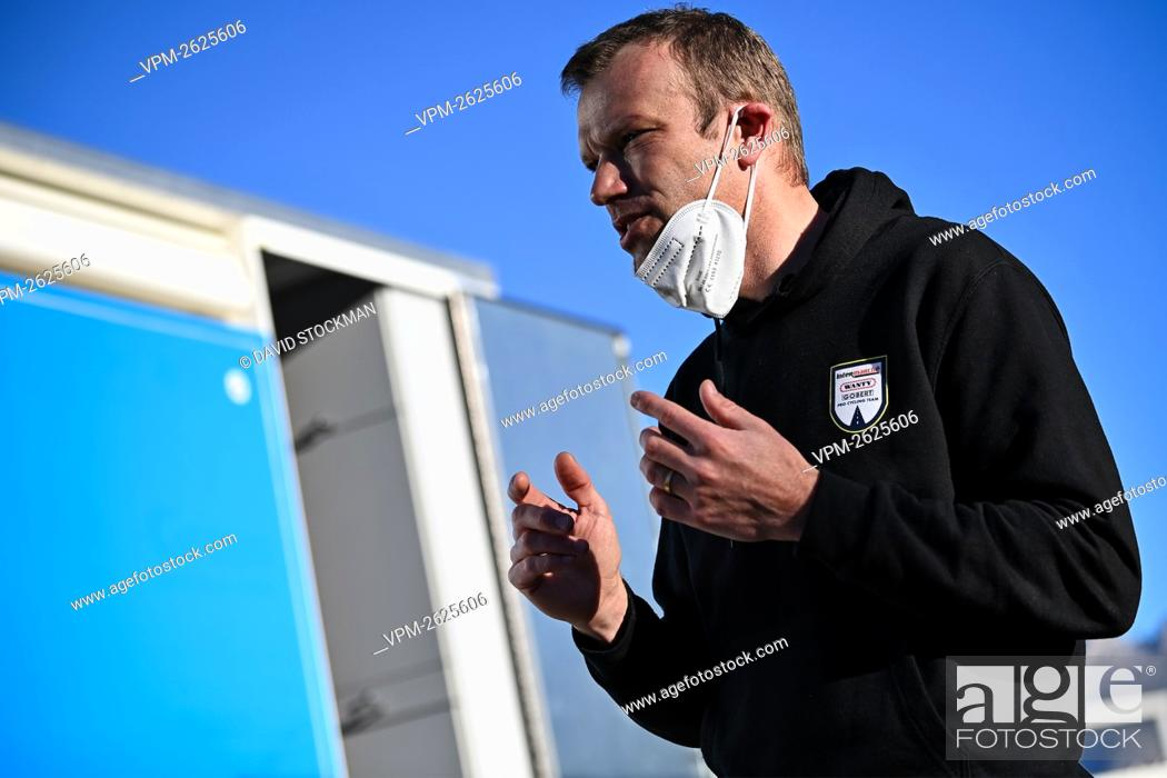 Stock Photo: Intermarche Wanty-Gobert trainer Frederik Veuchelen pictured during the Intermarche-Wanty-Gobert cycling team stage in Albir, in Spain, Sunday 17 January 2021.