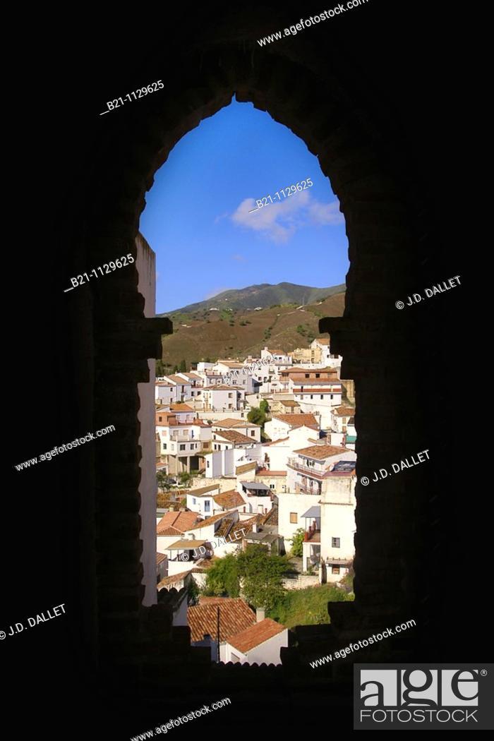 Stock Photo: El Borge, Axarquia mountains, Malaga province, Andalusia, Spain.