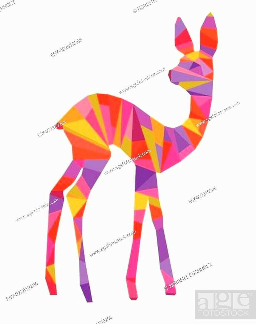 Stock Vector: buntes bambi.
