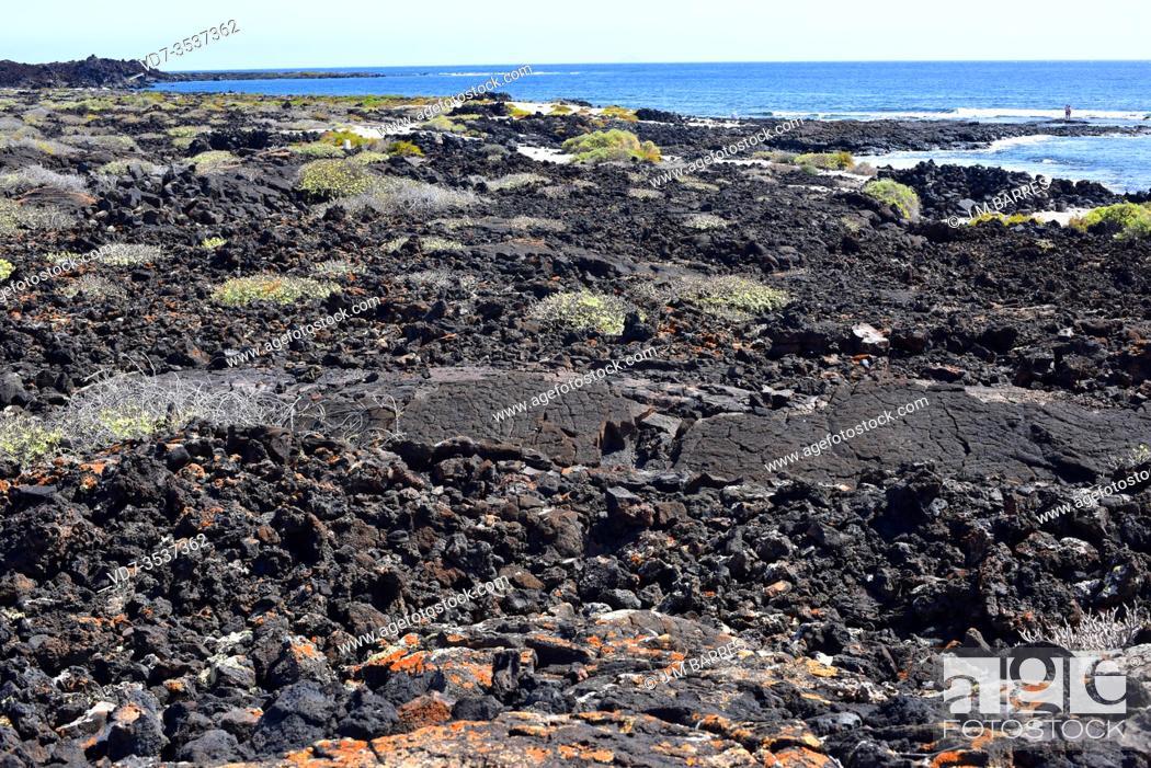 Stock Photo: Malpais de la Corona Natural Park. Lanzarote Island, Canary Islands, Spain.