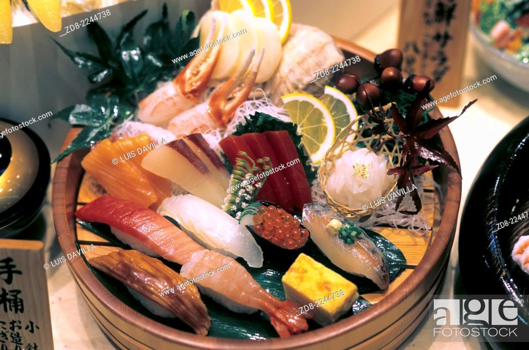 Stock Photo: meat sushi.
