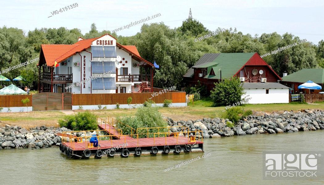 Stock Photo: Romania, Tulcea County, Dobrudja, Dobruja, Danube Delta, Biosphere Reserve Danube Delta, river delta, estuary, Danube river mouth to the Black Sea.