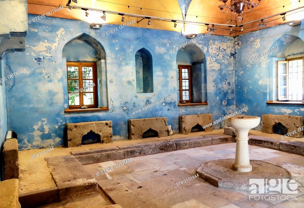 Stock Photo: 19th century Renovated Hamam, Mytilini Town, Mytilini, Greece.
