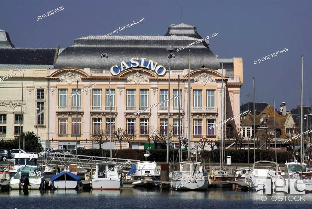 Stock Photo: Harbour and casino, Trouville, Calvados, Normandy, France, Europe.