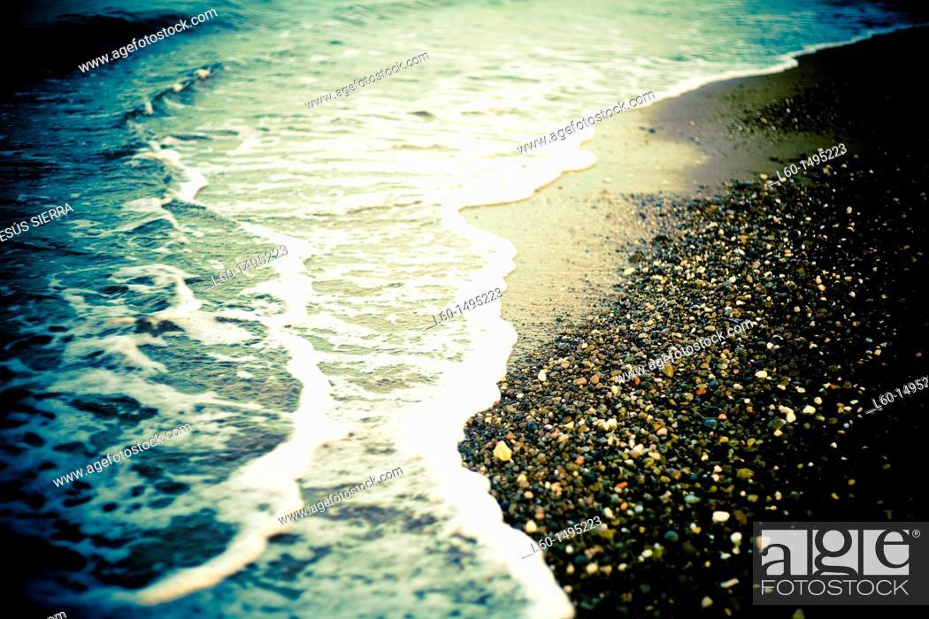 Stock Photo: Waves in Las Negras, Cabo de Gata, Spain.