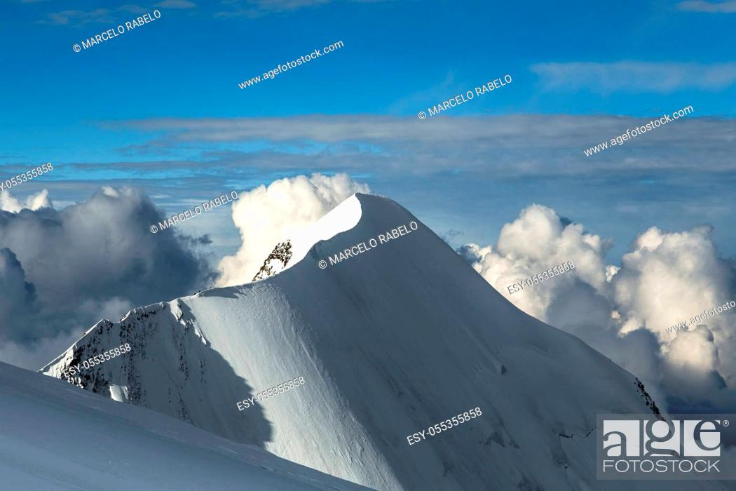 Stock Photo: Mont Blanc, Chamonix, France.
