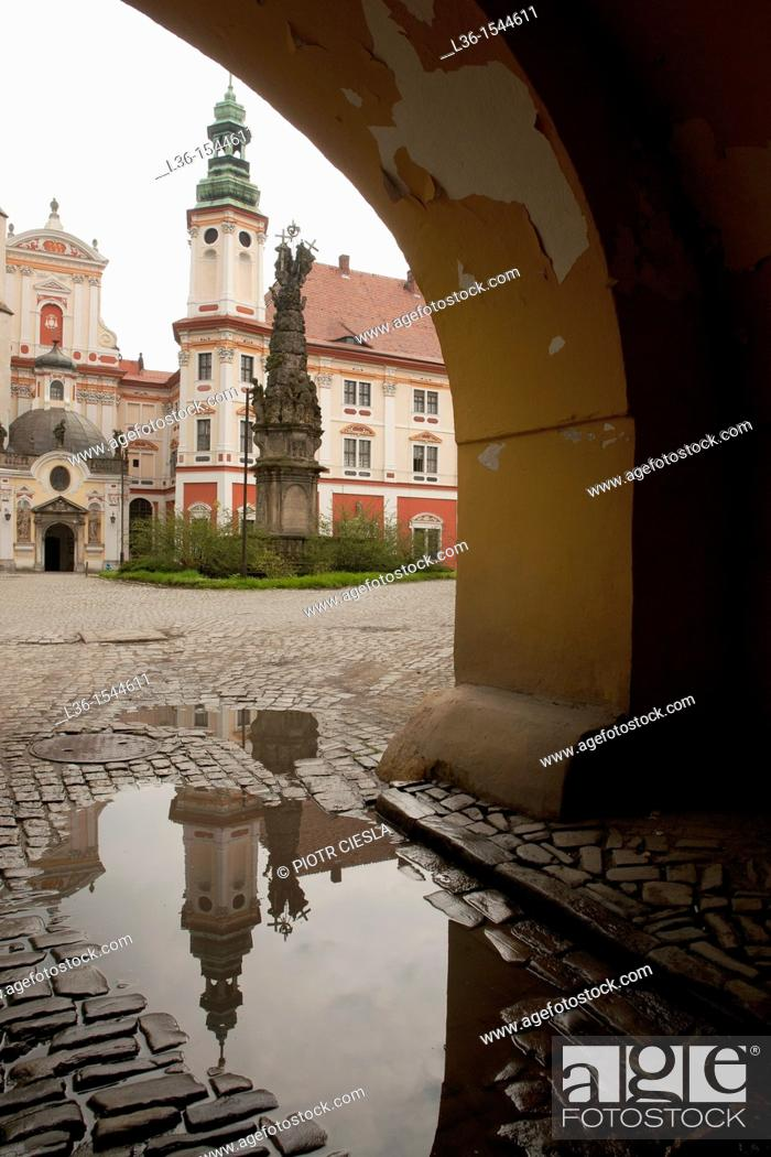 Stock Photo: Henryków - the cistercians abbey from the XII century. Poland Lower Silesia region.