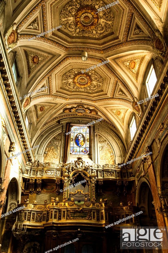 Stock Photo: Santa Maria in Trastevere, Rome, Italy.