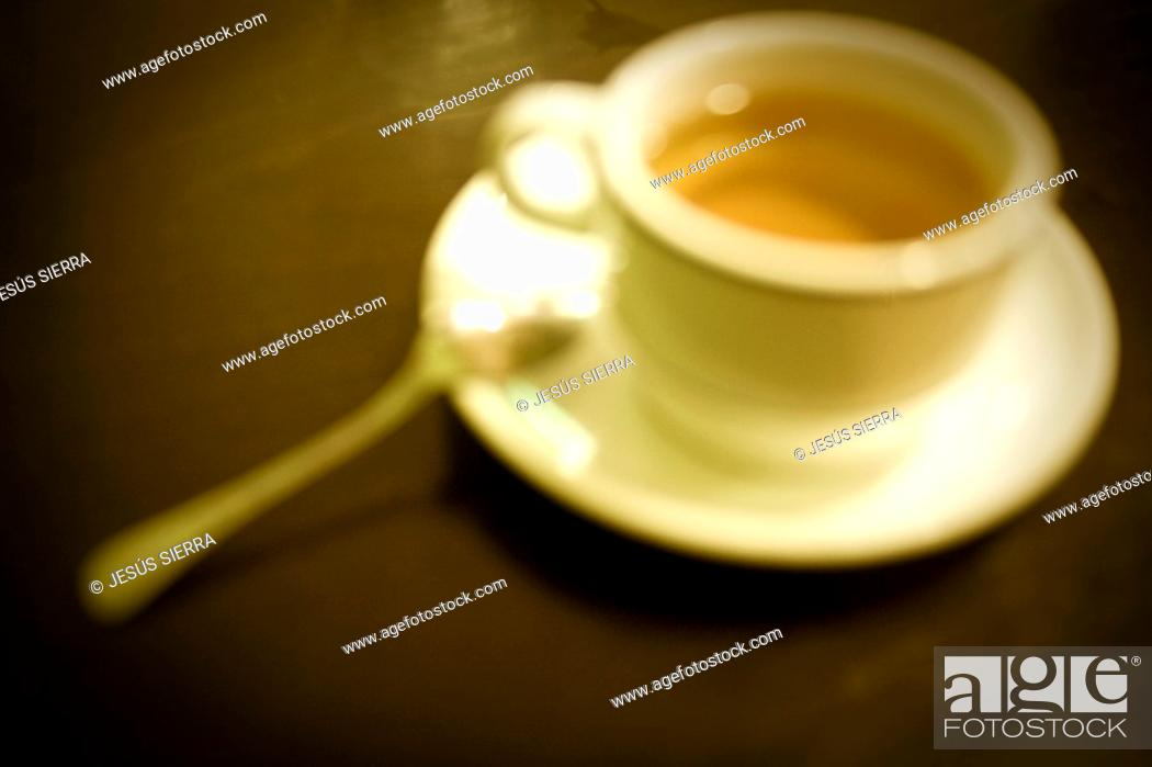 Stock Photo: Coffee cup in Bar.