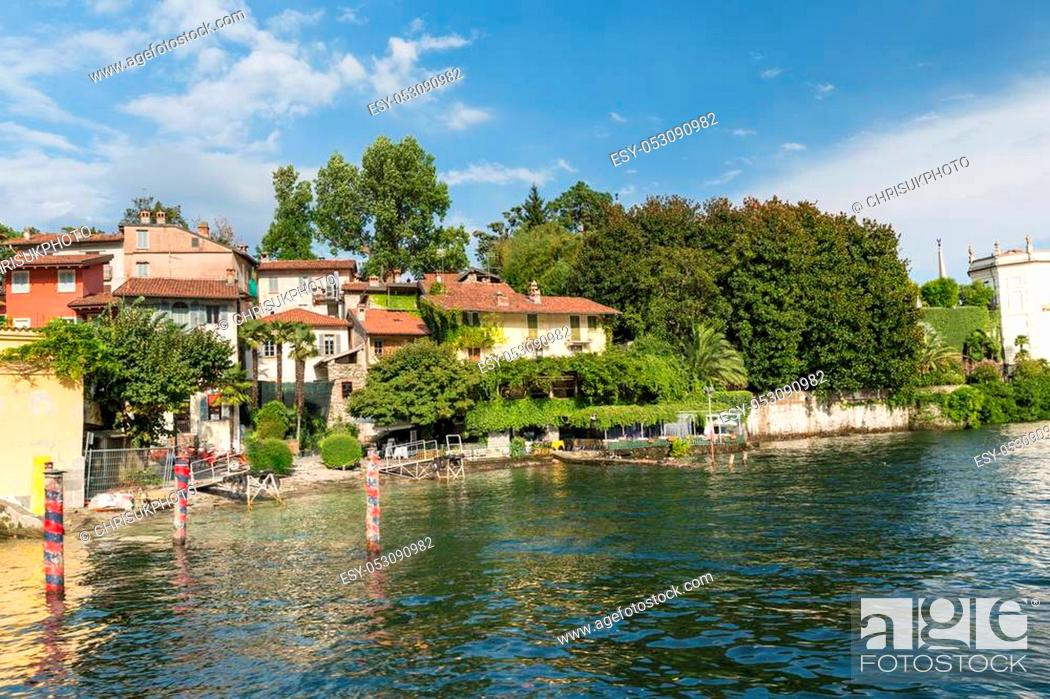 Stock Photo: Isola Bella in Lake Maggiore near Stresa in Italy - opulent and luxurious.