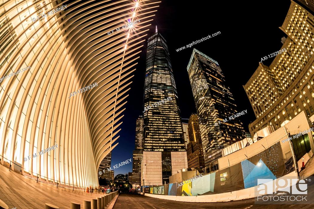f8144041a889 Stock Photo - World Trade Center Near The Oculus  New York City