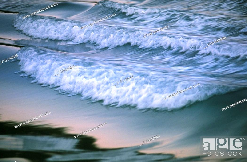 Stock Photo: Waves on the Loire river, the site is on the World Heritage list of UNESCO, Indre et Loire, France.