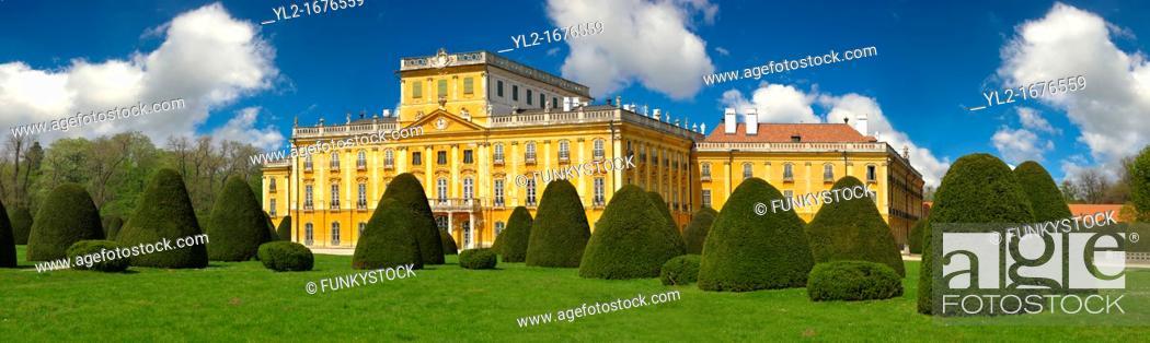 Stock Photo: Baroque Fertod Palace built in 1760's by Nikolaus Esterhazy, Hungary.
