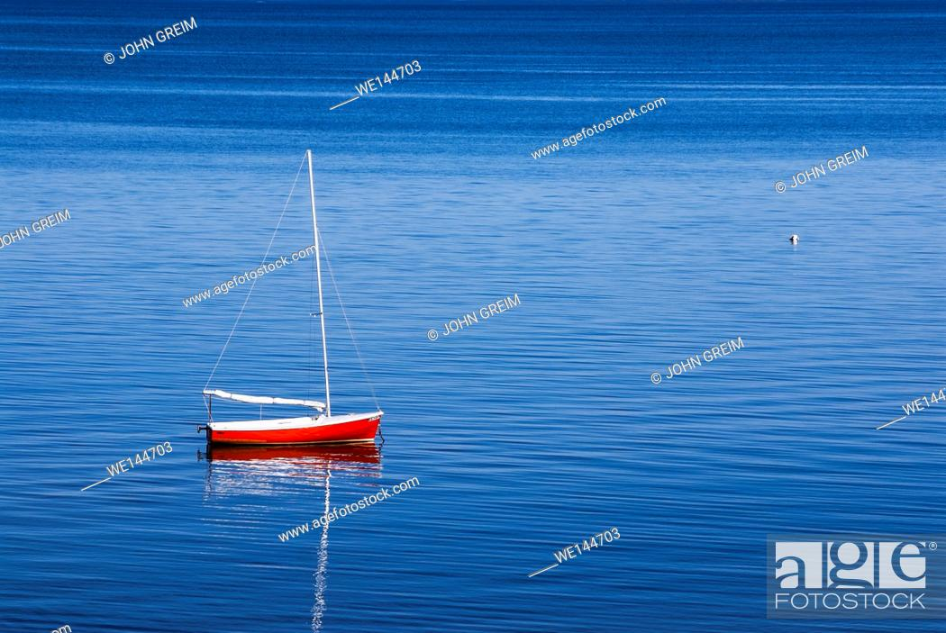 Stock Photo: Sailboat, Eastham, Cape Cod, Massachusetts, USA.