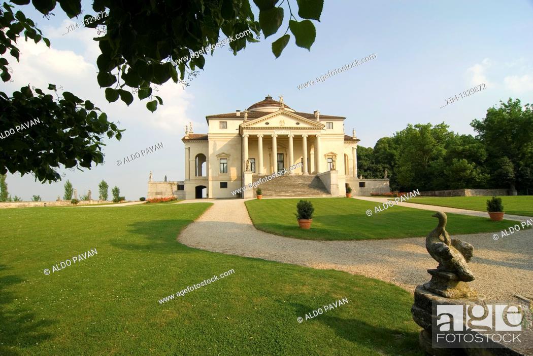 Stock Photo: Villa Capra (aka La Rotonda) by Palladio, Vicenza, Veneto, Italy.