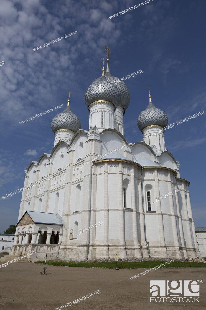 Stock Photo: Assumption Cathedral, Rostov Veliky, Golden Ring, Yaroslavl Oblast, Russia.