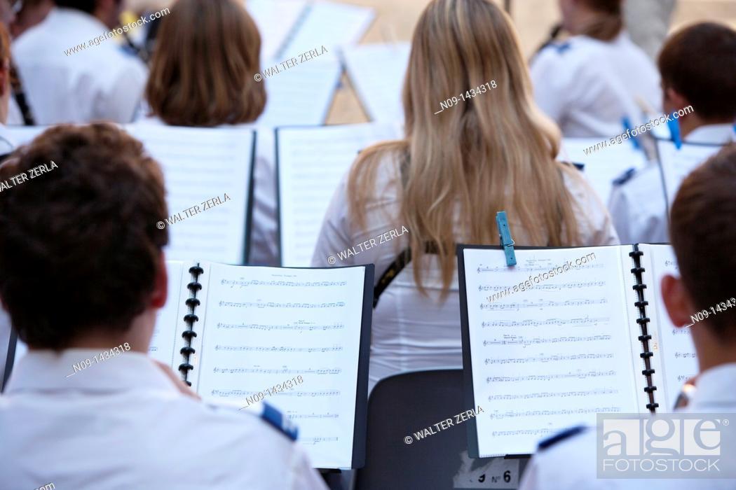 Stock Photo: Volterra, italy, music band.