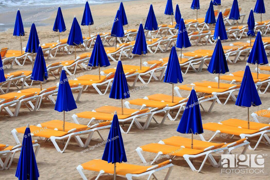 Stock Photo: Spain, Canary islands, Lanzarote, beach of Costa Calma.