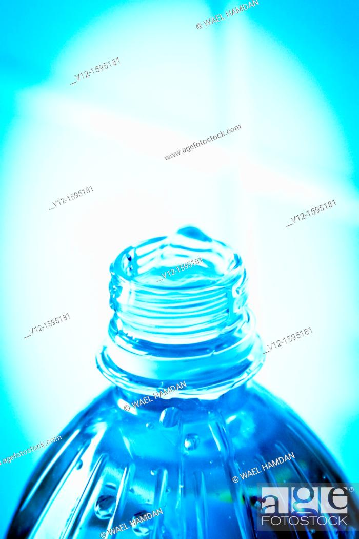 Stock Photo: Close-up of bottle water.