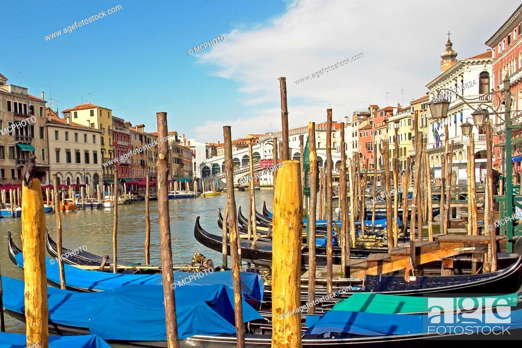 Stock Photo: Canale Grande, Italy, Venice.