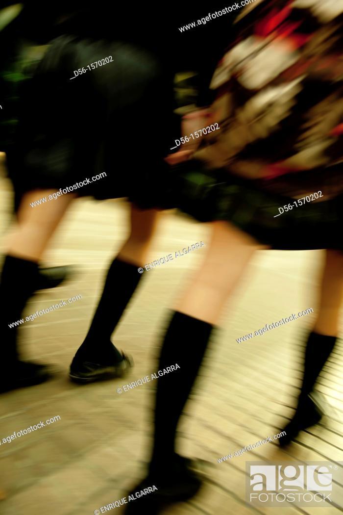 Stock Photo: Schoolgirls.