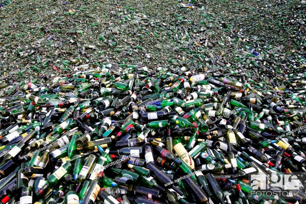Stock Photo: Recycling bottle glass , basel switzerland.