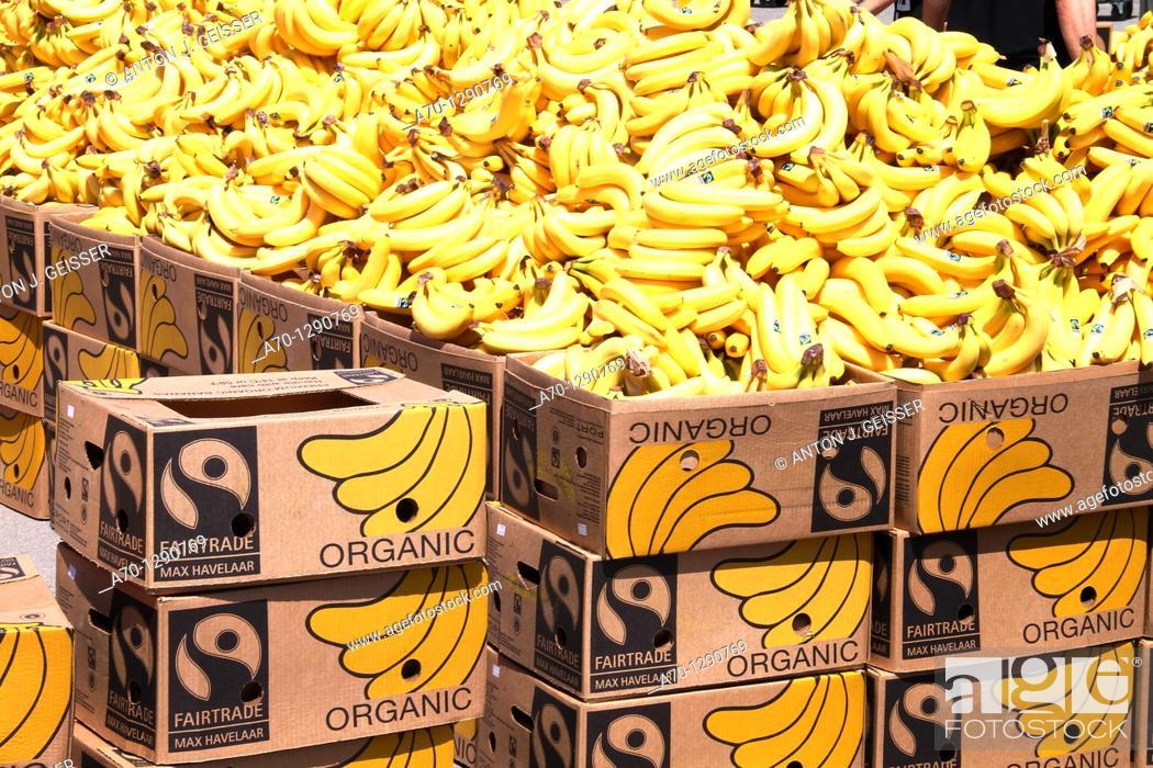 Stock Photo: Banana, fruit, market.