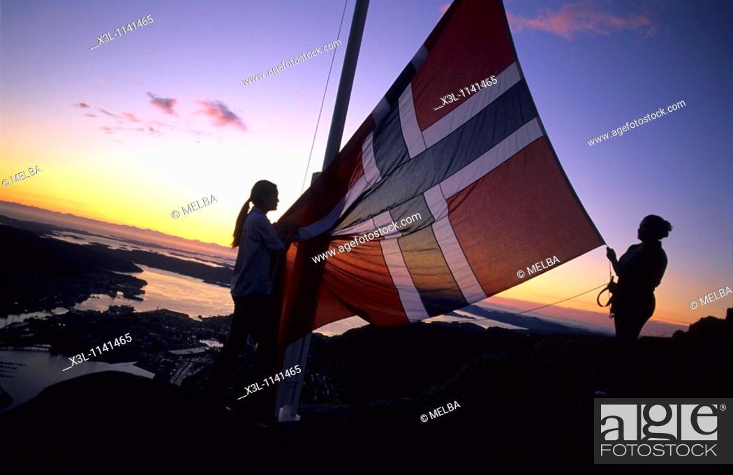 Stock Photo: Bergen Norway.