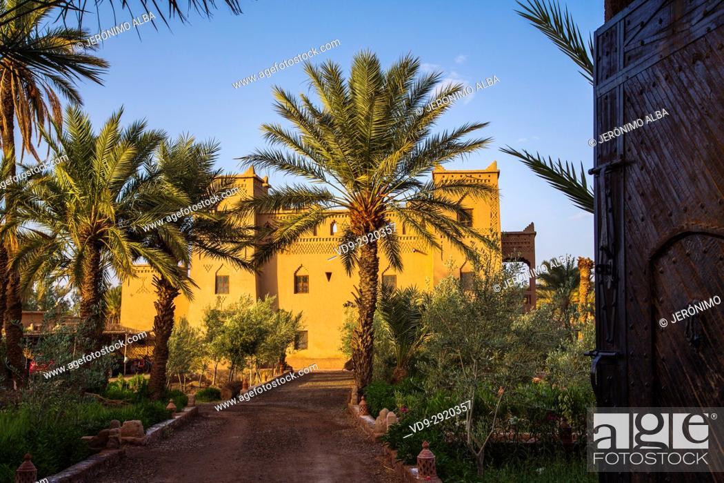Imagen: Hotel Espace Kasbah Dar Es Salam, Skoura oasis Palm Grove Palmeral. Morocco, Maghreb North Africa.