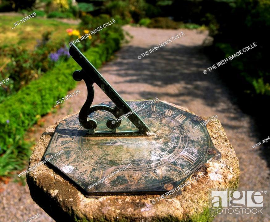 Stock Photo   Garden Sundial