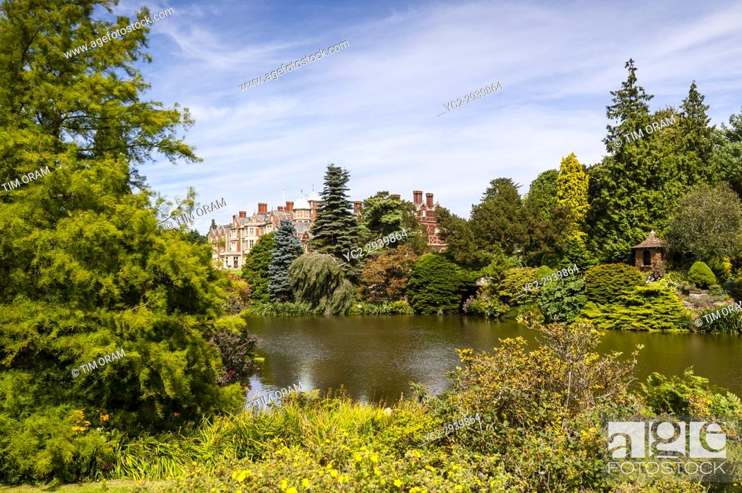 Stock Photo: Sandringham House at Sandringham Estate in Norfolk , England , Britain , Uk.