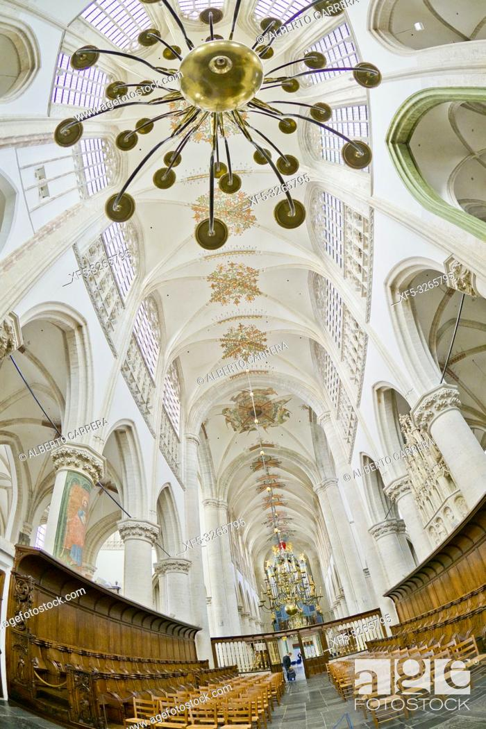 Photo de stock: Grote Kerk, Church of Our Lady, Brabantine Gothic Style, Breda, Noord-Brabant Province, Holland, Netherlands, Europe.