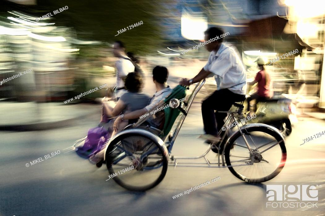 Stock Photo: transport in street  Hoi An, Vietnam, Asia.