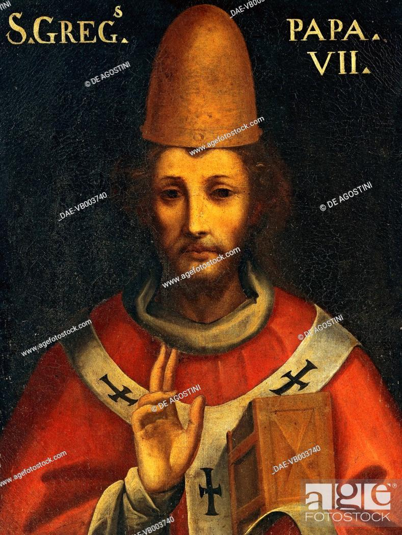 Imagen: Portrait of Gregory VII, born Ildebrando Aldobrandeschi or Hildebrand of Sovana (Sovana, 1020/1025-Salerno, 1085), Pope from 1073.