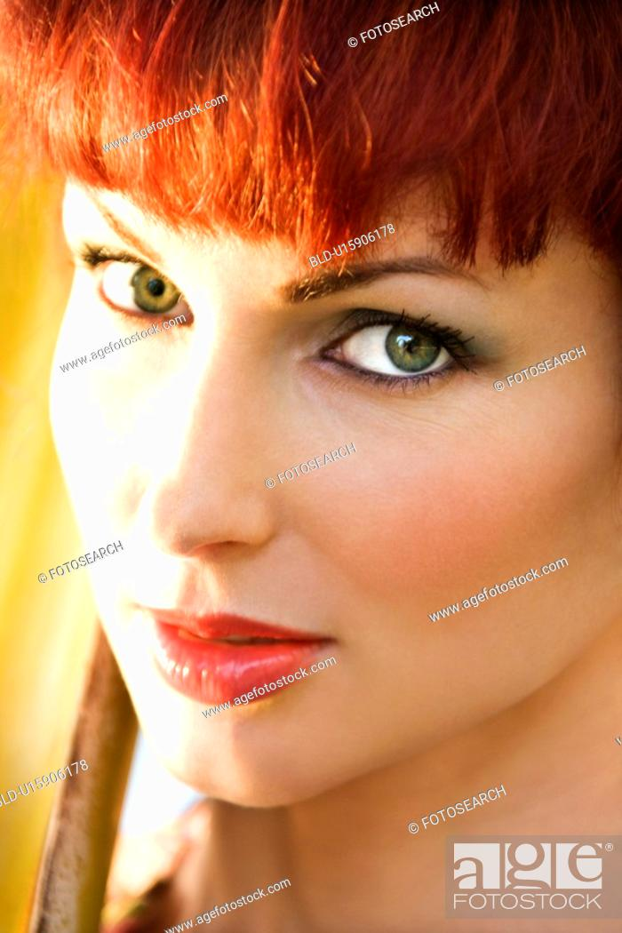 Stock Photo: Close up portrait of attractive woman.