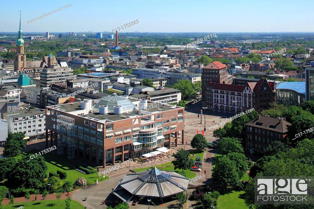 Germany dortmund ruhr area westphalia north rhine westphalia nrw city view aerial view - Stadtgarten dortmund ...