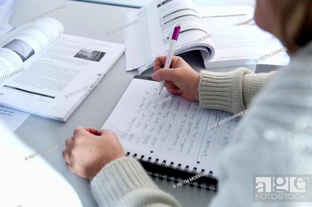 Stock Photo: Adult learners at a college of further education UK.