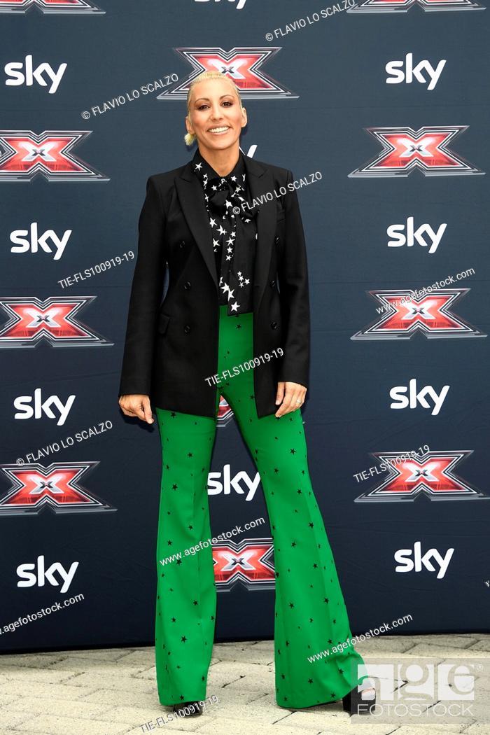 Stock Photo: Singer Malika Ayane during the photocall of X Factor 2019, Milan, ITALY-10-09-2019.