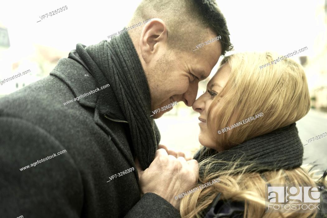 Imagen: German couple in city Cottbus, Brandenburg, Germany.