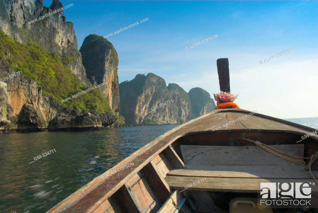 Stock Photo: Thailand. Ko Phi Phi Leh. The island featured in the movie 'The Beach'.
