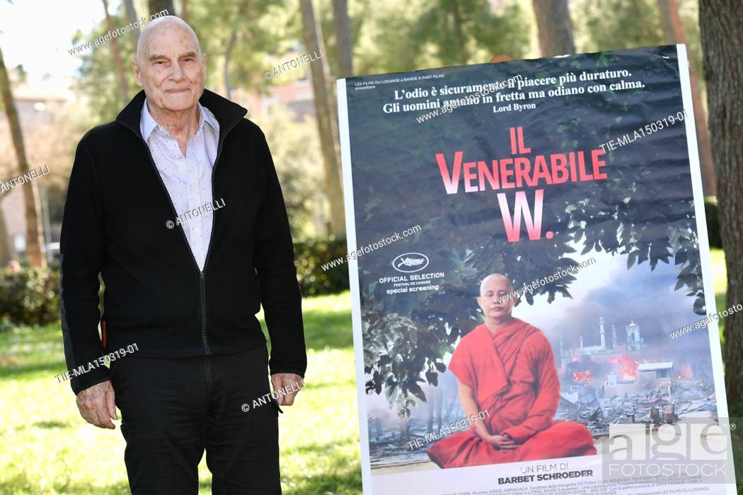 Imagen: Director Barbet Schroeder presents his film Le vénérable W. at the Casa del Cinema in Rome. Italy 15-03-2019.