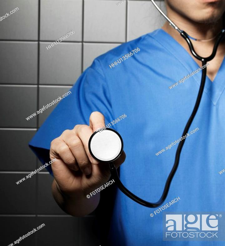 Stock Photo: Doctor with Stethoscope.