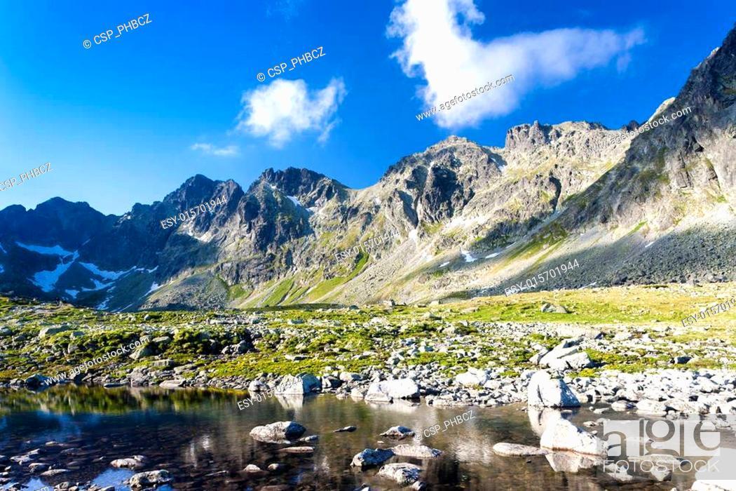 Stock Photo: Mengusovska Valley, Vysoke Tatry (High Tatras), Slovakia.