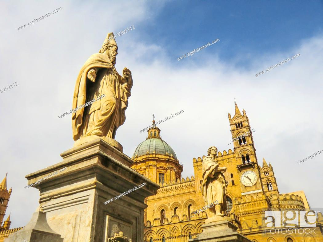 Stock Photo: Palermo Cathedral, Roman Catholic Archdiocese of Palermo, Palermo, Sicily, Italy.