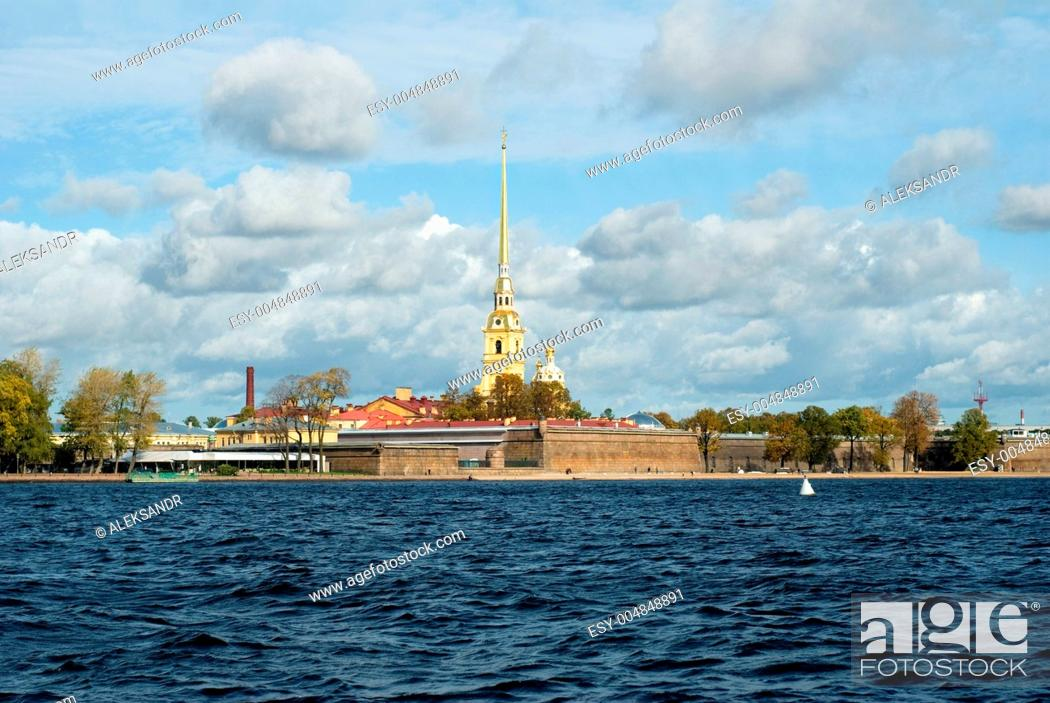 Stock Photo: The Peter and Paul Fortress.