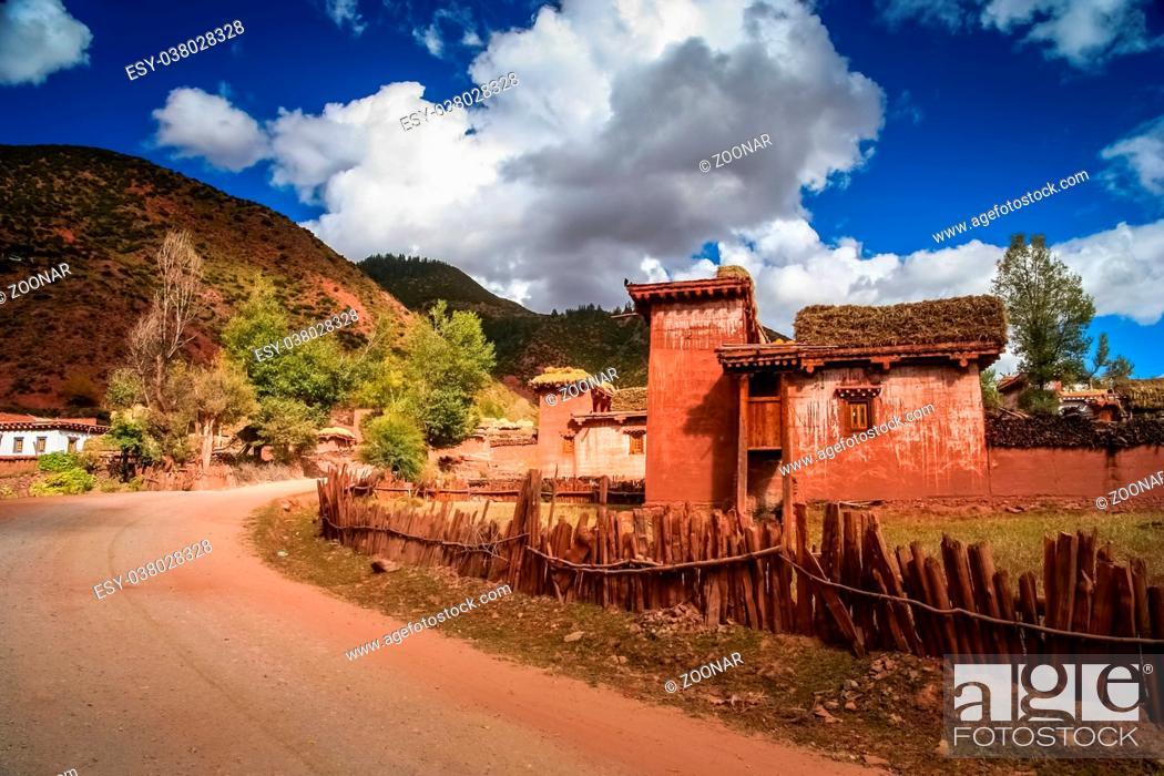 Stock Photo: Traditional tibetan home.