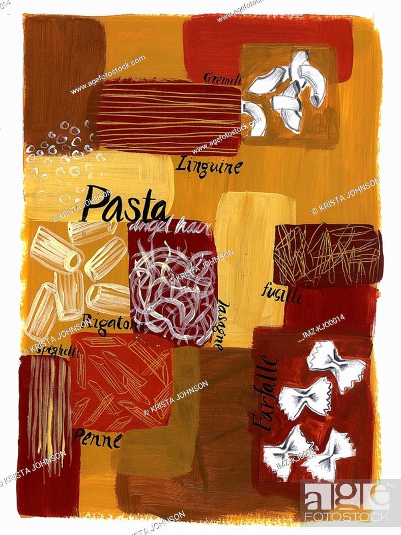 Stock Photo: pasta montage.