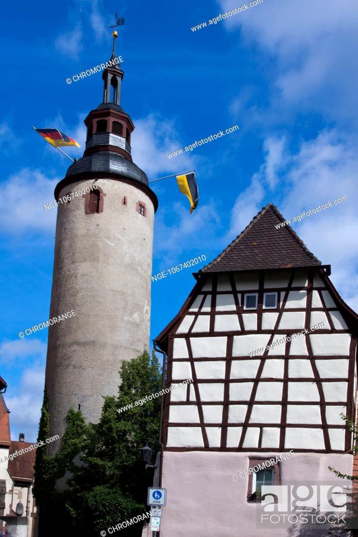 Imagen: Tuermersturm, tower, city s landmark, Tauberbischofsheim, Main-Tauber-Kreis, Baden-Wuerttemberg, Germany, Europe.