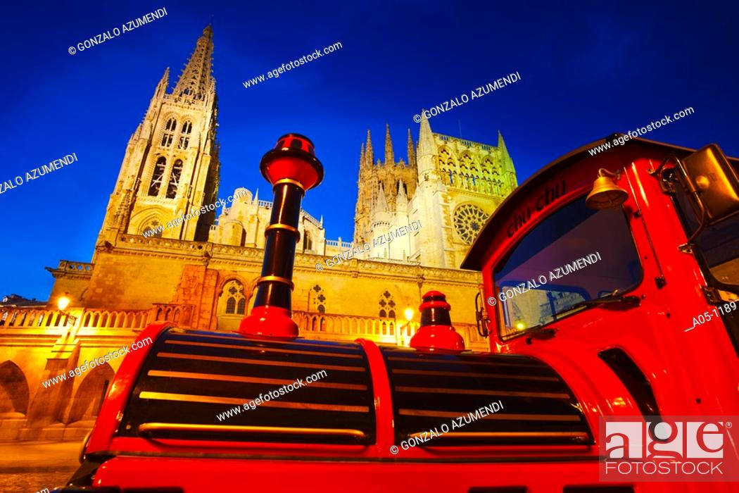 Stock Photo: Cathedral. Burgos. Castilla-Leon. Road to Santiago. Spain.